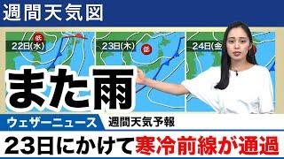 週間天気予報/23日にかけて寒冷前線が通過 screenshot 3