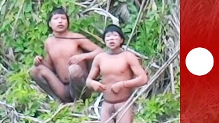 Rare footage: First contact made with isolated Amazon jungle tribe