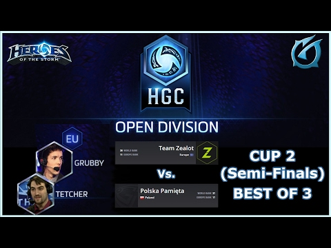Grubby | Heroes of the Storm | HGC Europe - Open Division - Cup 2  - Team Zealots vs. Polska Pamięta