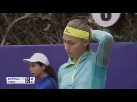 Vera Zvonareva vs Aleksandra Krunic - Tashkent Open 2017