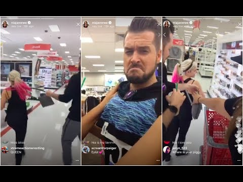 Nia Jax goes to Target with Alexa Bliss and Mike Rome who end up fighting