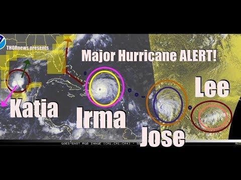Hurricane Irma & Jose Danger to USA