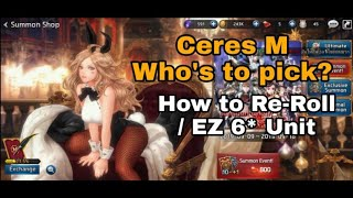 ceres M Gameplay/Guide/Re-Roll/Who's to pick?  Another massive HD Game!