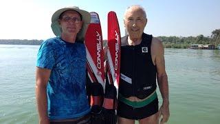 78 years old water skier!