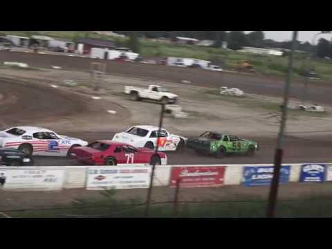 Hobby Stock Heat Race #1 at Mt. Pleasant Speedway, Michigan on 07-26-2019!
