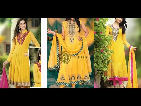 Latest Mehndi and Mayon Dresses for Girls