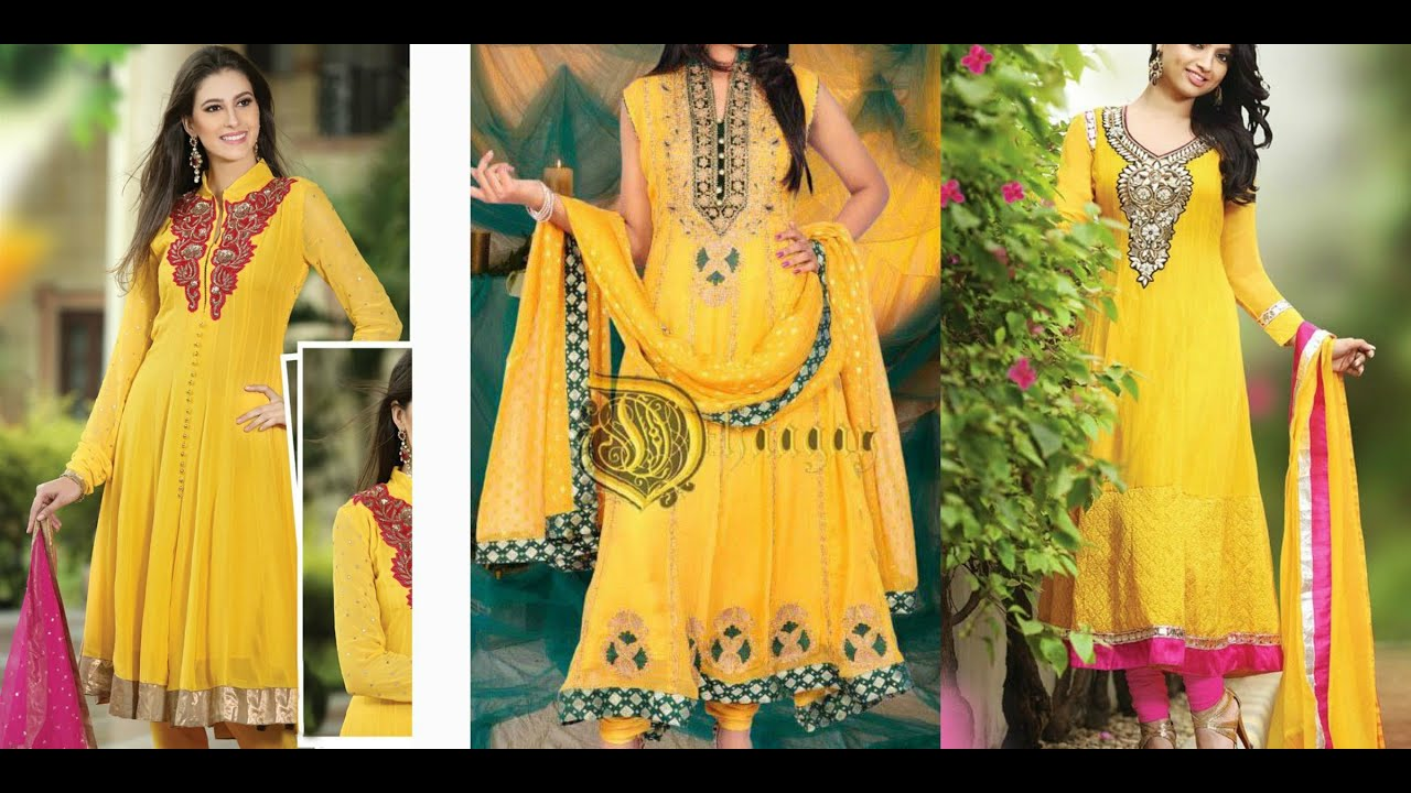 Latest Mehndi And Mayon Dresses For Girls Youtube