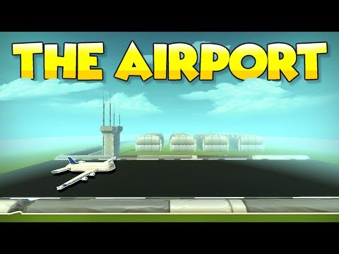 THE AIRPORT TILE with HANGARS and AIRSHOW?!  Scrap Mechanic Tile Tuesdays  Episode 7