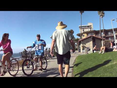 San Diego Mission Beach Boardwalk Bike-Cam (to La Jolla) Part 3