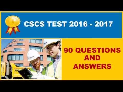 Cscs Test Practice