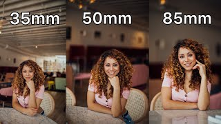 35mm vs 50mm vs 85mm Lens Comparison for Portrait Photography