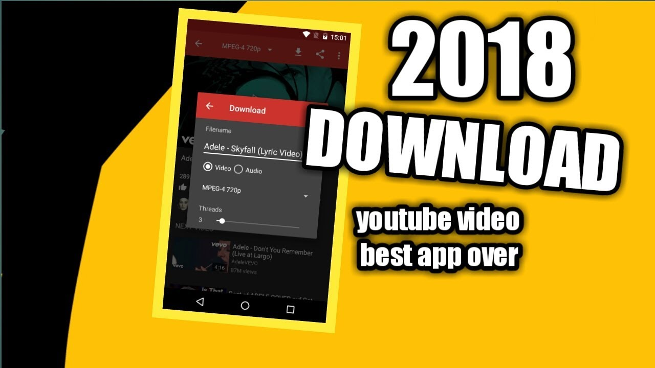 download youtube video in android using the best app over!