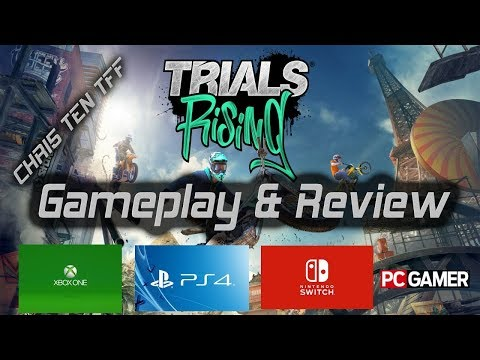 Trials Rising Ubisoft Game Review & Gameplay XBOX PS4 NINTENDO & PC