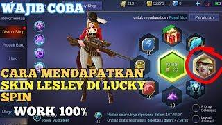 Cara Mendapatkan Skin Lesley di Lucky spin Work 100