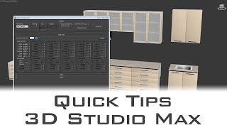 Autodesk 3ds Max - Quickly Detail Interiors With Cabinet Maker Script