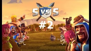 Th9 Vs Engineered Th10 War Attacks |Clash Of Clans| 5v5 War #2