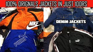 100% ORIGINAL NIKE PUMA ADIDAS FILA JACKETS AND TRACKS IN 100RS PUNE DENIM JACKETS JEANS HODDIES