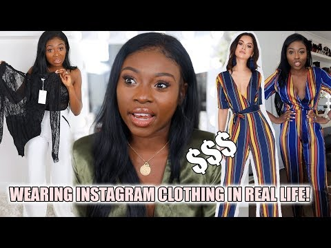 WEARING INSTAGRAM CLOTHING IN REAL LIFE| I SPENT $$$ ON IN T