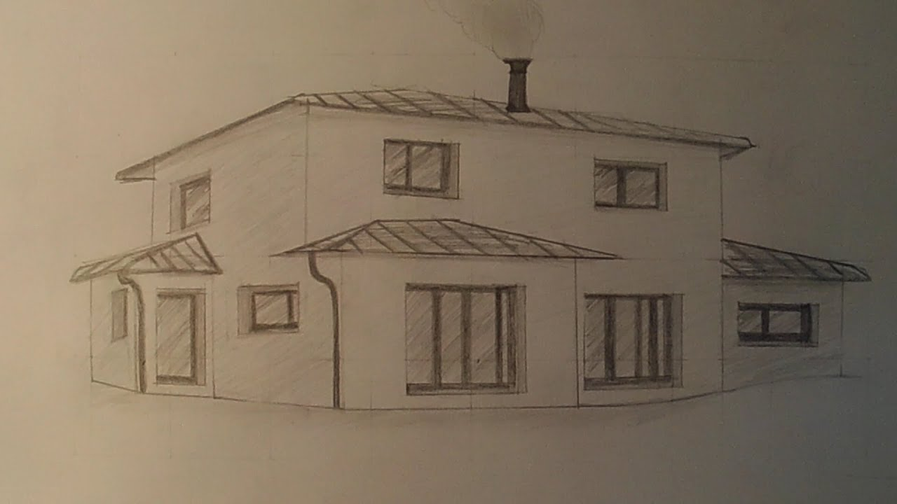 Speeddrawing dessiner une maison youtube - Dessin de maison facile ...