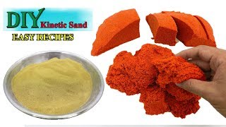 DIY Get Sand I DIY KINETIC SAND WITH CLEAR SLIME I You Definitely Have To Try