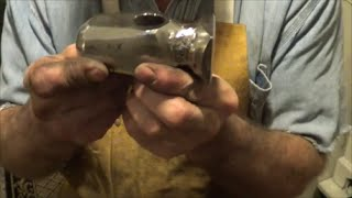 Making a Flatter Blacksmith Hammer From A Small Sledge