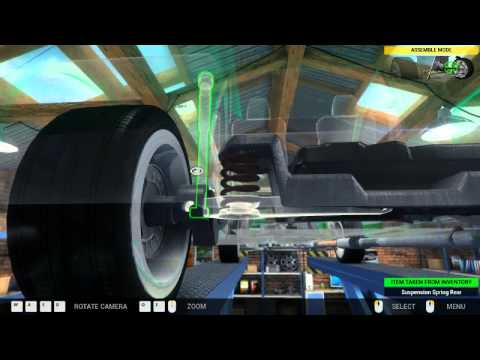 How to change replace rear suspension parts in Peugeot Partner  with Car Mechanic   Simulator 2014