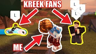 I told KREEKCRAFT FANS to CAMP ME | Roblox Jailbreak