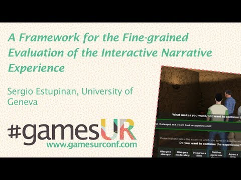 A Framework for the Fine-grained Evaluation of the Interactive Narrative Experience