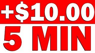 **BRAND NEW METHOD** EARN $10 IN 5 MINUTES AGAIN & AGAIN! (WORLDWIDE)