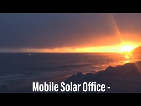 Solar Office - How i work on the road in the skoolie
