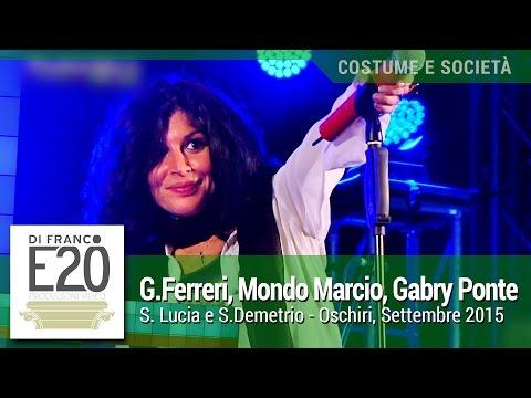 Giusy Ferreri, Mondo Marcio e Gabry Ponte live 2015 - S. Lucia e S. Demetrio, Oschiri