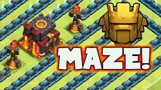 "Clash of Clans: ""Titan MAZE Base!"" | AM I GONNA GET CRUSHED? UNBELIEVABLE"