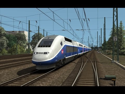 TGV 9583 Marseille-Saint-Charles - Frankfurt | SNCF TGV Duplex | Train Simulator 2017
