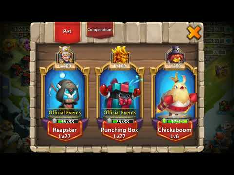 Castle Clash - Upgrading Punching Box From Level 0 To 27 In Seconds
