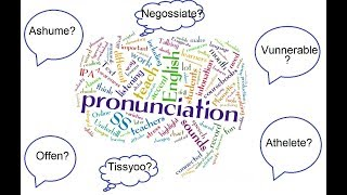 English Words You're Mispronouncing - English Pronunciations & Grammar