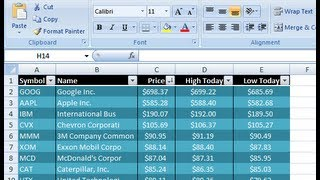 Excel VBA - Get Stock Quotes from Yahoo Finance API