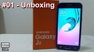 Samsung Galaxy J2 - [ Unboxing - Tirando da caixa ] - Português