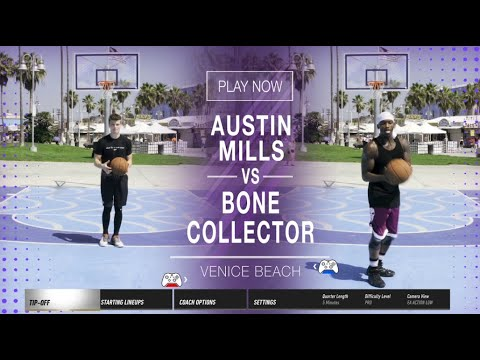 Streetball Legend Bone Collector vs Former D-1 Player Austin Mills: Epic 1-on-1 Battle