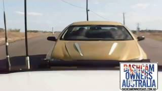 Driver rams Hoon doing burnouts