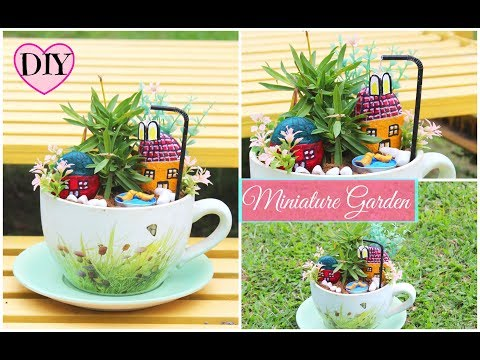 How to make Miniature Garden at home using Waste Material/ DIY for home decor.
