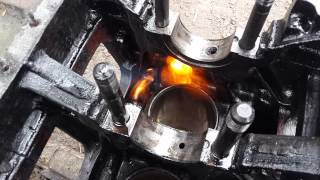 Ремонт судового двигателя  6Ч 1214 (выпресовка гильз)(Капитальный ремонт судовых дизелей, ремонт судовых систем и арматуры, продажа судовых двигателей и запасны..., 2015-09-11T08:37:26.000Z)