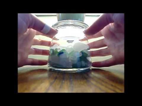 ASMR - sea glass, glass (tapping), and whispered rambling and counting