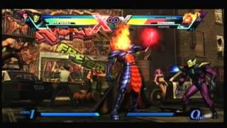 umvc3  super skrull ,firebrand,c.viper vs dormammu,dead pool, iron man