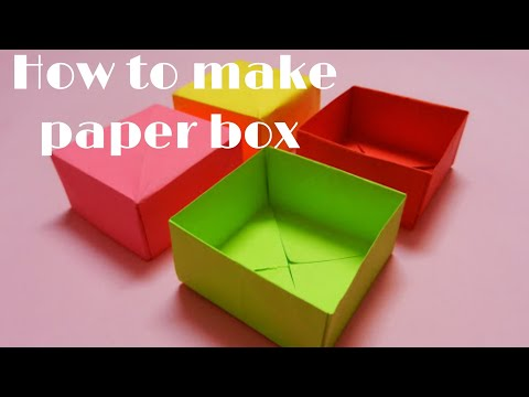 DIY-How to make a paper box without glue || Easy paper box making (Origami)