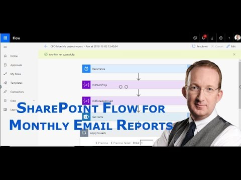 SharePoint Reports with Microsoft Flow Variables