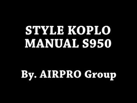 STYLE MANUAL KOPLO s950 yamaha 2018