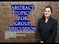 Abstract GD topics 2017-18 with Answers