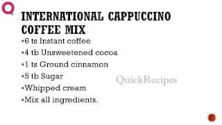 International Cappuccino Coffee Mix