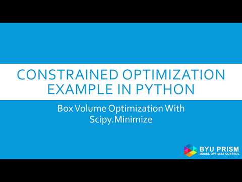 Python Scipy Optimization Example: Constrained Box Volume