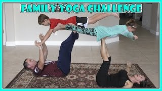 We do the popular family yoga challenge! See all the crazy stuff we...